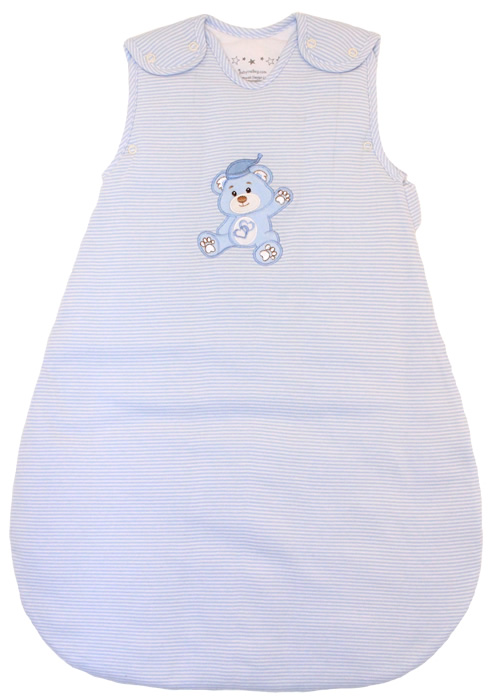 Baby Sleeping Bag Winter Model Blue And White Stripes